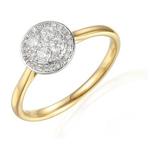 Pierścionek ze złota z diamentami AW 61528 YW próba 585