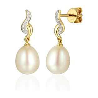 Kolczyki z perłą i diamentami Venezia AW 55719 Y perła Venezia próba 585
