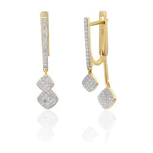 Kolczyki złote z diamentami nr AW 68811 Y