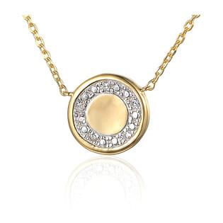 Naszyjnik złoty kółko z diamentami AW 69684 Y-06618 Y próba 585