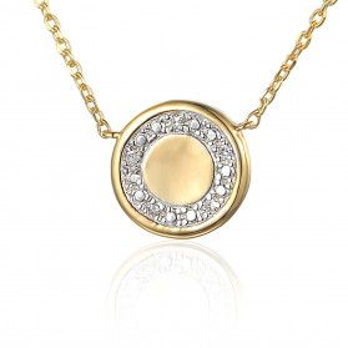 Naszyjnik złoty z diamentami AW 69684 Y-06618 Y próba 585