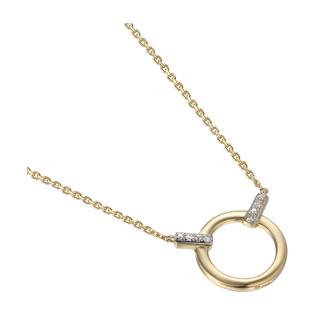 Naszyjnik z diamentami kółko ramka AW 5642 Y próba 585