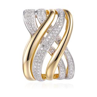 Zawieszka złota DUBAJ z diamentami AW 67880 YW próba 585