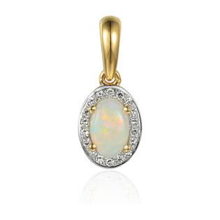 Zawieszka złota z diamentami i opalem AW 57117 Y owal Markiza próba 585