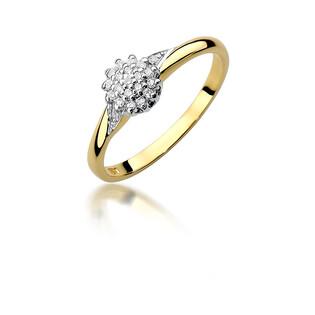Pierścionek zaręczynowy z diamentami BRIDELL BE W-419 próba 585 BRIDELL