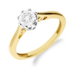 Pierścionek zaręczynowy z diamentem ROYAL AP Magic nr JRI-562 próba 585