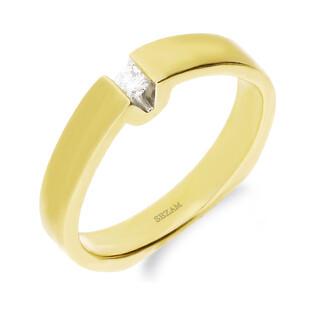 Pierścionek zaręczynowy ETERNO z diamentem nr 321D satyna próba 585 ETERNO