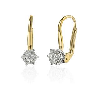 Kolczyki złote z diamentami SWEET AW 48553 YW próba 585