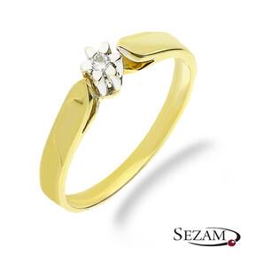 Pierścionek zaręczynowy z diamentem STELLA nr FU B0088 próba 585 SOLITER