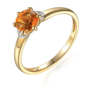 Pierścionek zaręczynowy z morganitem i diamentami AW 73493 R próba 585