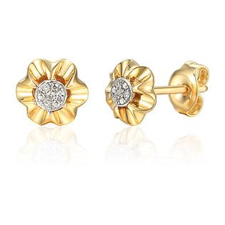 Kolczyki złote z diamentami AW 69367 Y próba 585