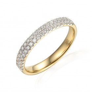 Pierścionek zaręczynowy z diamentami AW 62426 Y próba 585