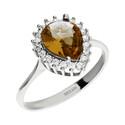 Pierścionek srebrny zultanit w kształcie kropli nr SR Z4 próba 925