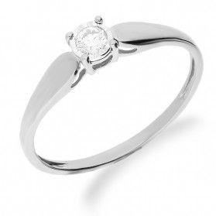 Pierścionek zaręczynowy z diamentem SOLITER Magic KU 4074 białe złoto próba 585