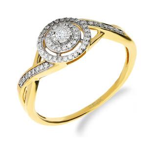 Pierścionek zaręczynowy z diamentami MIRAGE nr NF JRI-971 próba 585