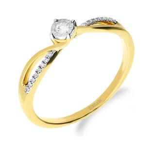 Pierścionek zareczynowy z diamentami SOLITER  Magic nr NF JRI-975 próba 585