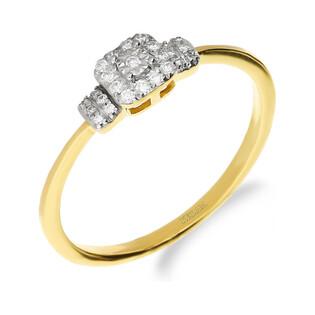 Pierścionek zaręczynowy z diamentami MIRAGE nr NF JRI-972 próba 585