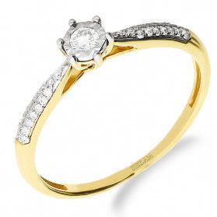 Pierścionek zaręczynowy z diamentami SOLITER Magic nr NF JRI-967 próba 585
