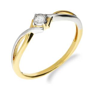 Pierścionek zaręczynowy z diamentem MARIAGE Magic nr NF JRI-979 próba 585
