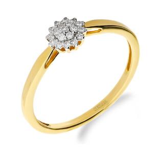 Pierścionek zaręczynowy z diamentami BRIDEL nr NF JRI-984 próba 585