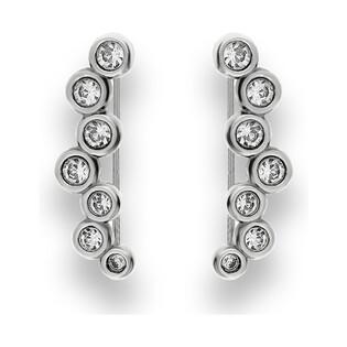 Kolczyki srebrne nausznice z cyrkoniami nr SZ SG-011-KN-S próba 925