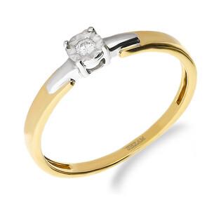 Pierścionek zaręczynowy z diamentem SOLITER Magic nr NF JRI-737 próba 585