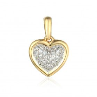 Serduszko z diamentami AW 45506 Y próba 585 Sezam - 1