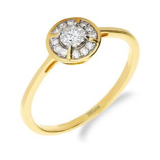 Pierścionek zaręczynowy z diamentem LEMON nr NF JRI-966 próba 585