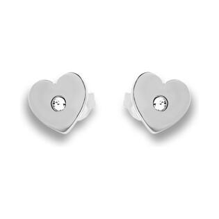 Kolczyki srebrne w kształcie serca nr SZ SG-001-KS-R serce próba 925