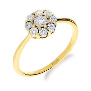Pierścionek zaręczynowy z diamentem nr NF JRI-974 próba 585