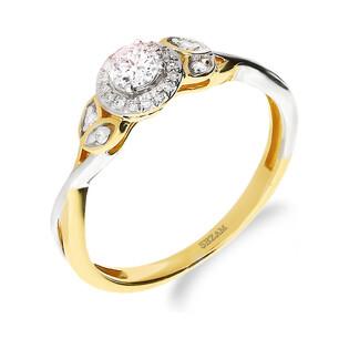 Pierścionek zaręczynowy z diamentami nr NF JRI-985 próba 585