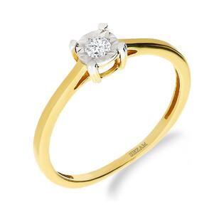 Pierścionek zaręczynowy z diamentami nr NF JRI-969 próba 585