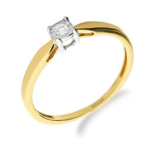 Pierścionek zaręczynowy z diamentem nr NF JRI-387 próba 585