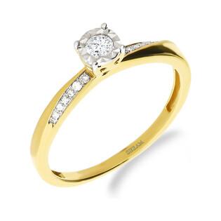 Pierścionek zaręczynowy z diamentem nr NF JRI-734 próba 585
