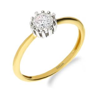 Pierścionek zaręczynowy z diamentem nr NF JRI-982 próba 585