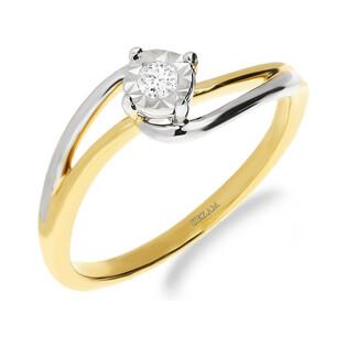 Pierścionek zaręczynowy z diamentem nr NF JRI-970 próba 585