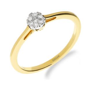 Pierścionek zaręczynowy z diamentem nr NF JRI-983 próba 585
