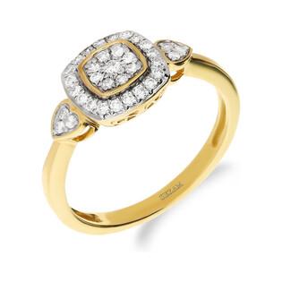 Pierścionek zaręczynowy z diamentem nr NF JRI-990 próba 375