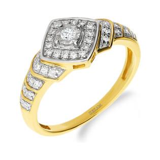 Pierścionek zaręczynowy z diamentem nr NF JRI-981 próba 375
