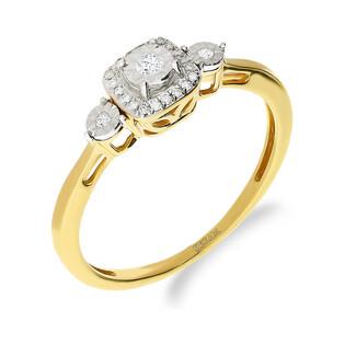 Pierścionek zaręczynowy z diamentem nr NF JRI-736 próba 585