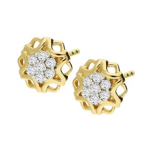 Kolczyki złote z diamentami nr NF JEI-452 próba 585