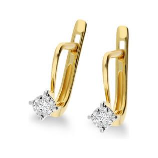 Kolczyki złote z diamentami nr NF JEI-451 próba 585