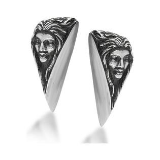 Kolczyki srebrne z twarzą kobiety nr ARTIS A.Głodowski 236 próba 925