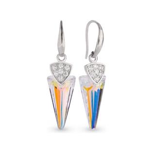 Kolczyki srebrne SPARK z kryształami Swarovskiego Spike CQ KW6480AB próba 925