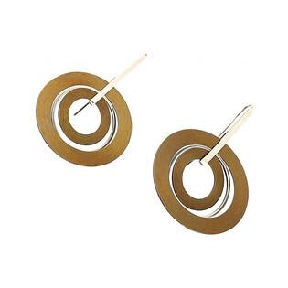 Kolczyki tytanowe w kształcie kręgów ze srebrnym zapięciem nr AG