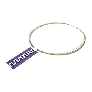 Naszyjnik srebrny z prostokątną blaszką z greckim wzorem na stalowych linkach AG ARTIS A.Głodowski próba 925