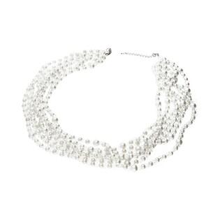 Naszyjnik srebrny z perłami i kryształkami Swarovski GRACE RD 624-1 próba 925