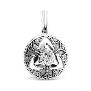 Zawieszka srebrna z cyrkonią, w kształcie koła, styl vintage nr PX 028 próba 925