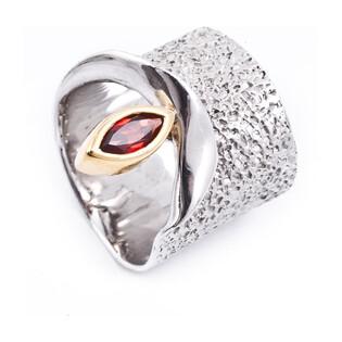 Pierścionek srebrny z granatem ARTIS G.KABIRSKI GA R1005 GRANAT