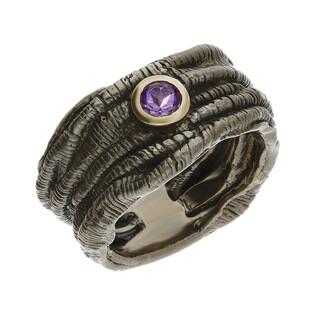 Pierścionek srebrny z ametystem ARTIS G.KABIRSKI GA R1098 AMETYST próba 925